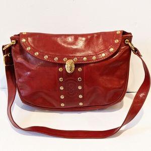Marino Orlandi red leather shoulder bag /crossbody